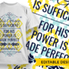 God is in control and his timing is perfect Design Template T-shirt Designs and Templates damask