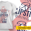 It's mom's turn to wine T-shirt Designs and Templates leaf