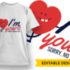 I'm yours – Sorry, No Refunds 2 T-shirt Designs and Templates funny