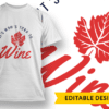 If you see red lipstick, bring me red wine T-shirt Designs and Templates colorful