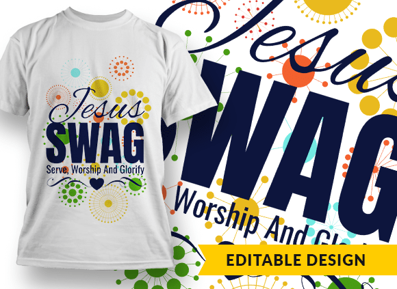 Jesus SWAG – Serve, Worship And Glorify Design Template T-shirt Designs and Templates pattern