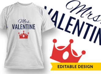 Mrs. Valentine T-shirt Designs and Templates heart