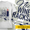 Whatever your question was, the answer is wine T-shirt Designs and Templates ornate