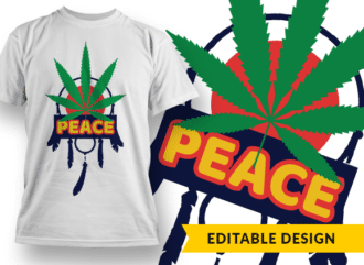 Peace 1 Design Template T-shirt Designs and Templates leaf