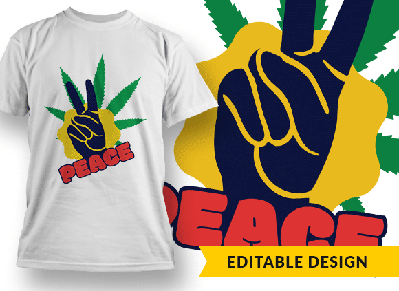 Peace T-shirt Designs and Templates leaf