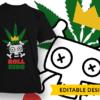 Vegan Design Template T-shirt Designs and Templates leaf