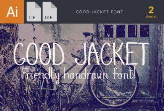 GoodJacket Font Fonts Font, Otf, ttf