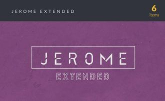 Jerome Extended Font Fonts Font, Otf, ttf