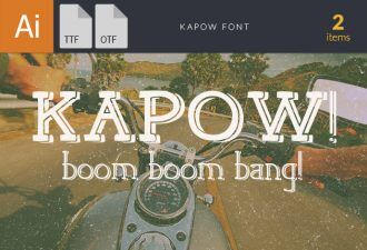 Kapow Font Fonts Font, Otf, ttf