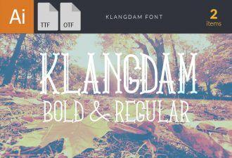 KlangdamBold Font Fonts Font, Otf, ttf