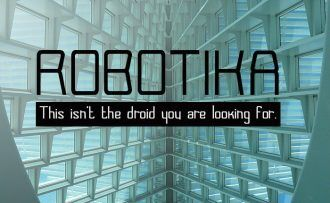 Robotika Font Fonts Font, Otf, ttf