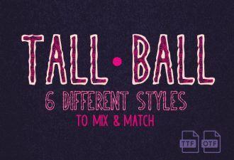 TallBall Extended Font Fonts Font, Otf, ttf
