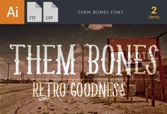 Them Bones Font Fonts Font, Otf, ttf