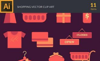 Shopping 2 Vector Pack Vector packs Shopping,vector,clipart,element,illustration