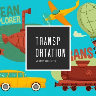 Transportation Vector Pack Vector packs Transportation,vector,clipart,element,illustration
