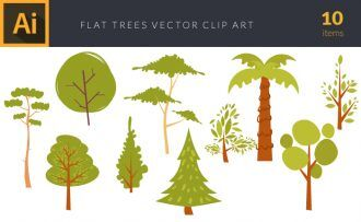 Trees 1 Vector Pack Vector packs Trees,,vector,clipart,element,illustration