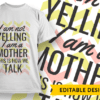 Dear mom, thank you for feeding us so we don't die  -Family name placeholder T-shirt Designs and Templates funny
