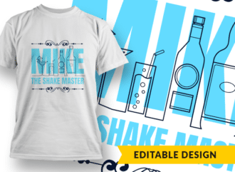 Bartender template with name placeholder T-shirt Designs and Templates Bar
