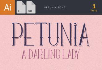 Petunia Font Fonts Font, Otf, ttf