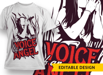 Voice of an angel T-shirt Designs and Templates microphone