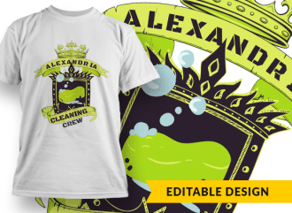 Alexandria (placeholder) cleaning crew T-shirt Designs and Templates heraldry