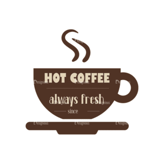 Coffee Badges 03 Clip Art - SVG & PNG vector
