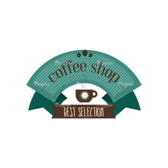 Coffee Badges 04 Clip Art - SVG & PNG vector