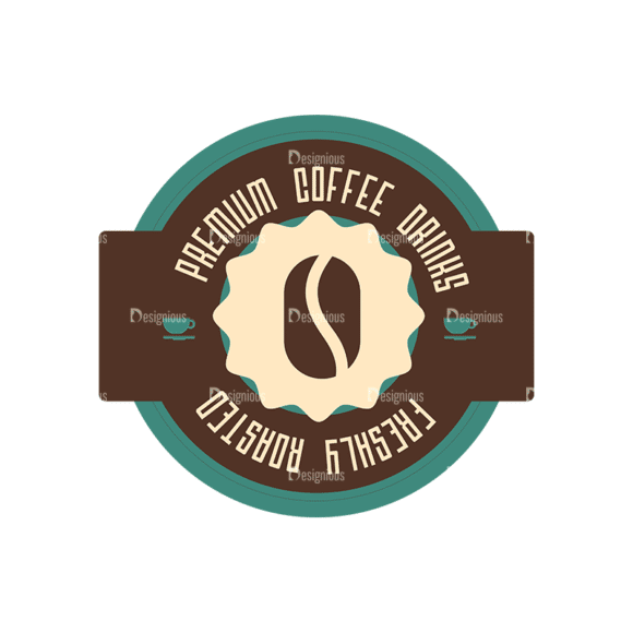 Coffee Badges 07 Clip Art - SVG & PNG vector