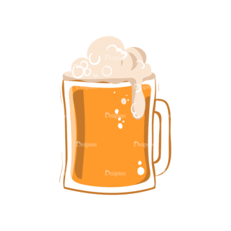 Drinks Mug With Beer Clip Art - SVG & PNG vector