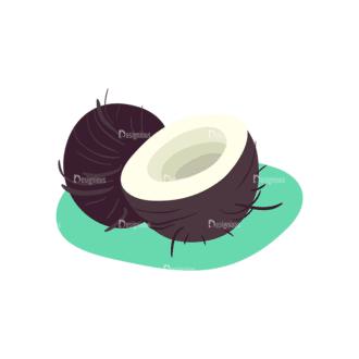 Exotic Fruits Cocos Clip Art - SVG & PNG vector