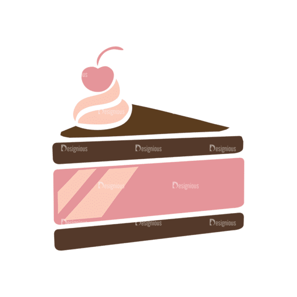 Pastry And Cookies Cake Clip Art - SVG & PNG vector