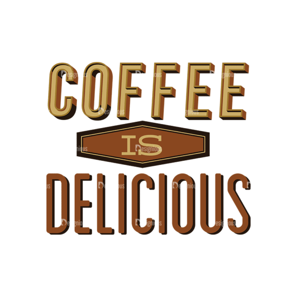 Coffee Labels And Badges Vector Set Vector Coffee Delicious Clip Art - SVG & PNG vector