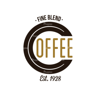 Coffee Labels And Badges Vector Set Vector Fine Blend Clip Art - SVG & PNG vector