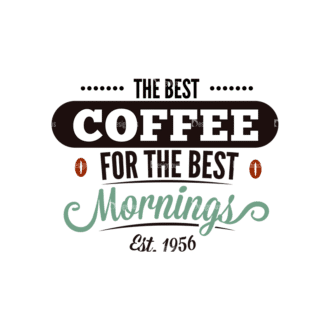 Coffee Typographic Elements Vector Text 03 Clip Art - SVG & PNG vector