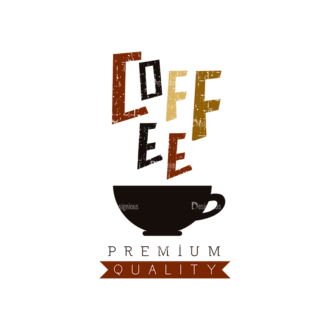 Coffee Vector Set 2 Vector Text 03 Clip Art - SVG & PNG vector