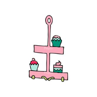 Designtnt Tea Party Vector Set 1 Vector Cupcakes Clip Art - SVG & PNG vector