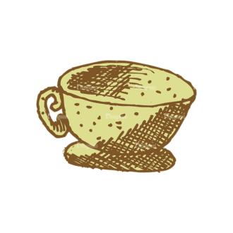Designtnt Tea Vector Set 1 Vector Cup 06 Clip Art - SVG & PNG vector