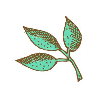 Designtnt Tea Vector Set 1 Vector Leaves Clip Art - SVG & PNG vector