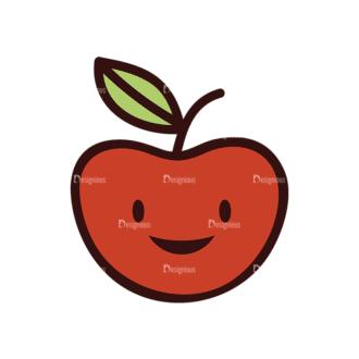 Doodle Fruits Vector Set 1 Vector Apple Clip Art - SVG & PNG vector