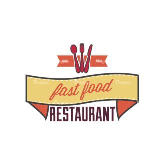 Fast Food Vector Set 4 Vector Text Clip Art - SVG & PNG vector