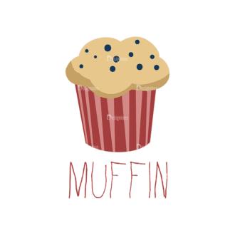 Food Recipe Vector Set 1 Vector Muffin 12 Clip Art - SVG & PNG vector
