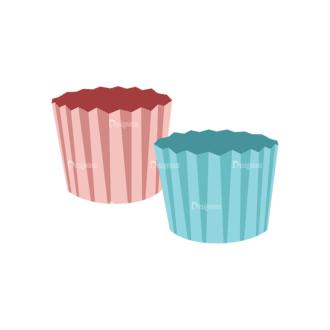 Food Recipe Vector Set 1 Vector Muffin Cup Clip Art - SVG & PNG vector