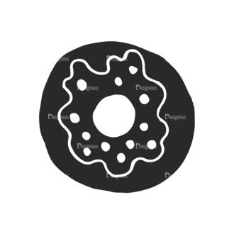 Food Vector Elements Set 2 Vector Donut Clip Art - SVG & PNG vector