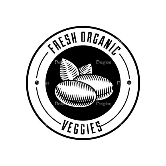 Food Vintage Badges Set 4 Vector Badge 01 Clip Art - SVG & PNG vector