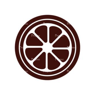 Fruits Vector Elements Set 1 Vector Orange Clip Art - SVG & PNG vector