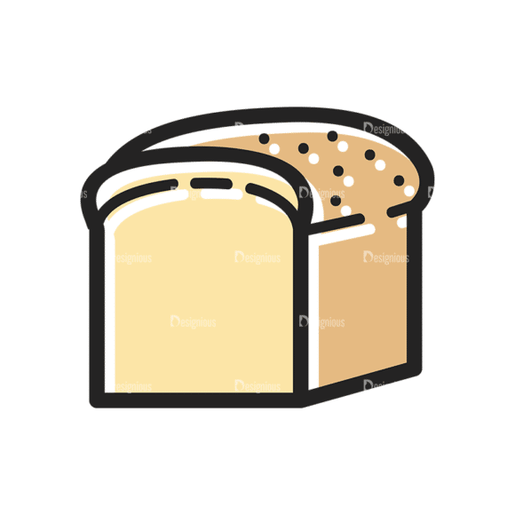 Vector Food Icons And Elements 3 Vector Bread 10 Clip Art - SVG & PNG vector