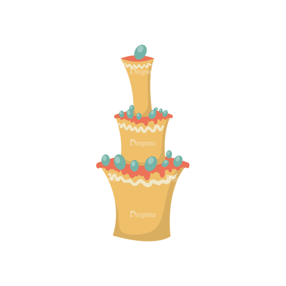 Happy Birthday Elements Cake 04 Preview Clip Art - SVG & PNG vector