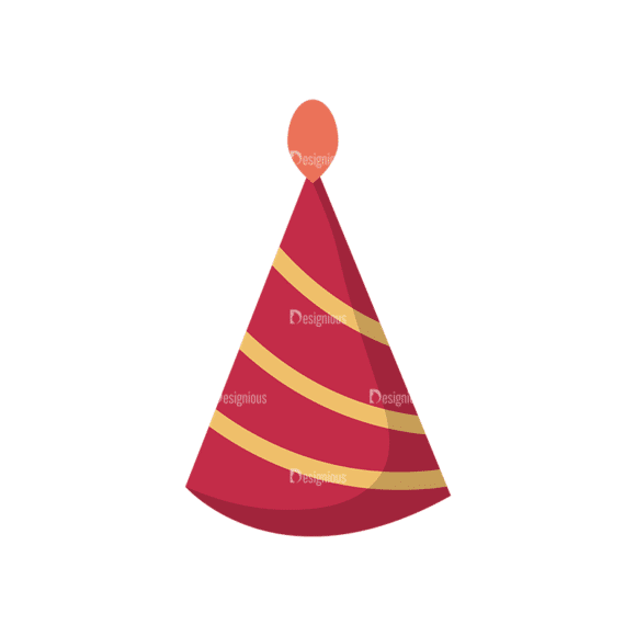 Happy Birthday Elements Party Hat 09 Preview Clip Art - SVG & PNG vector