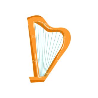 Musical Instruments Harp Clip Art - SVG & PNG vector