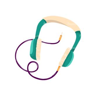 Musical Instruments Headphones Clip Art - SVG & PNG vector